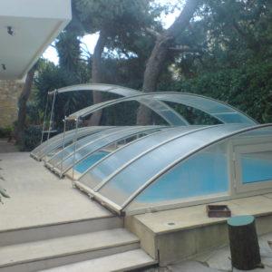 DALCON Αίθρια Συρόμενες οροφές Πέργκολες αλουμινίου